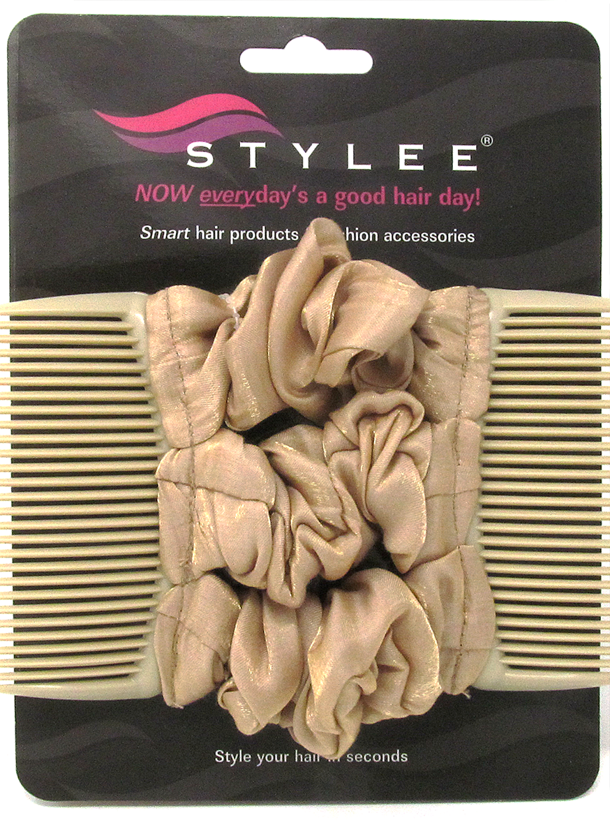 stylee hair accessories 3 beige gun metal 7652 | beigegm3s2small