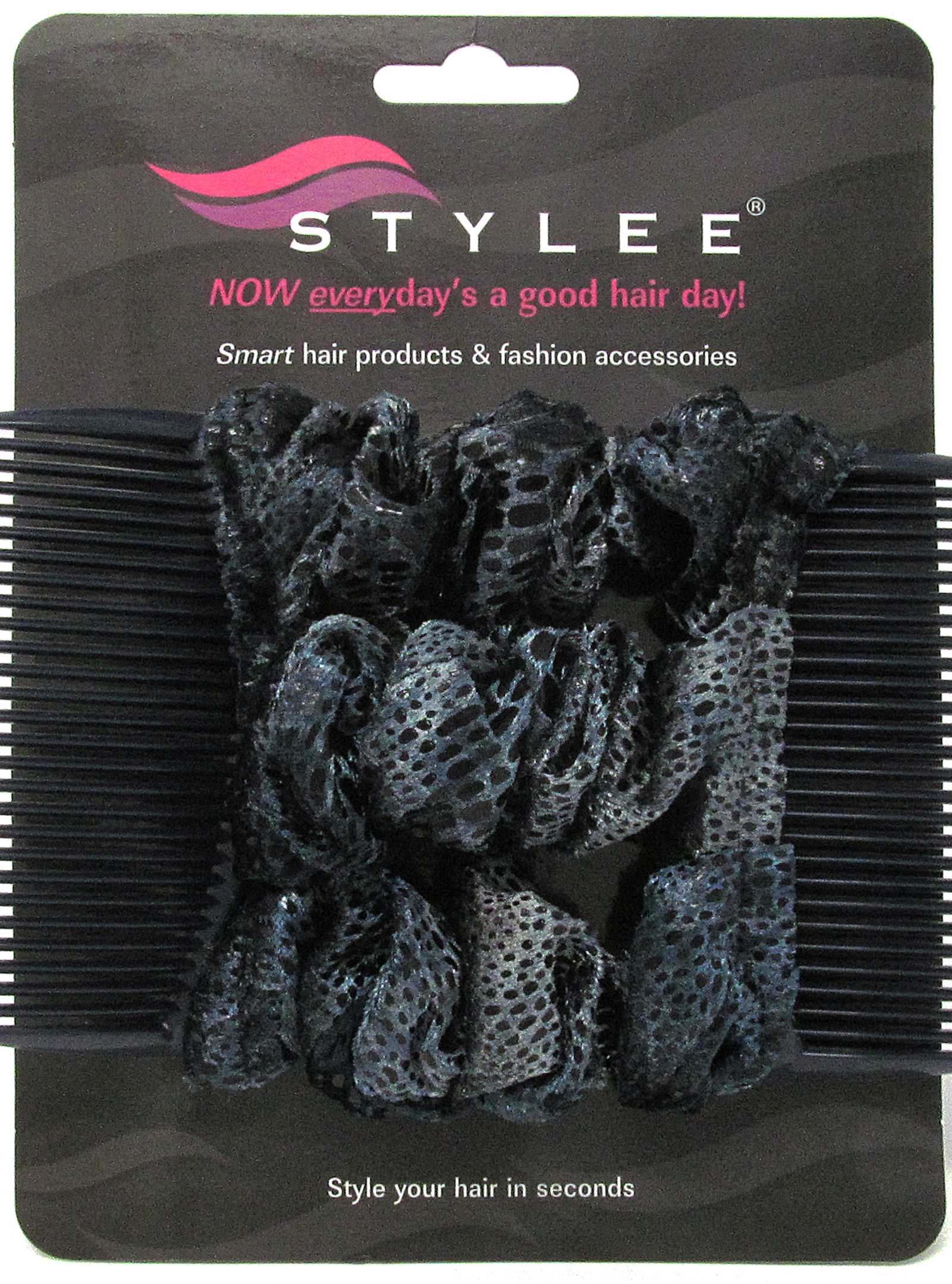 stylee hair accessories 3 blue grey snakeskin product code 1041 7652 | bluegreysnake3s
