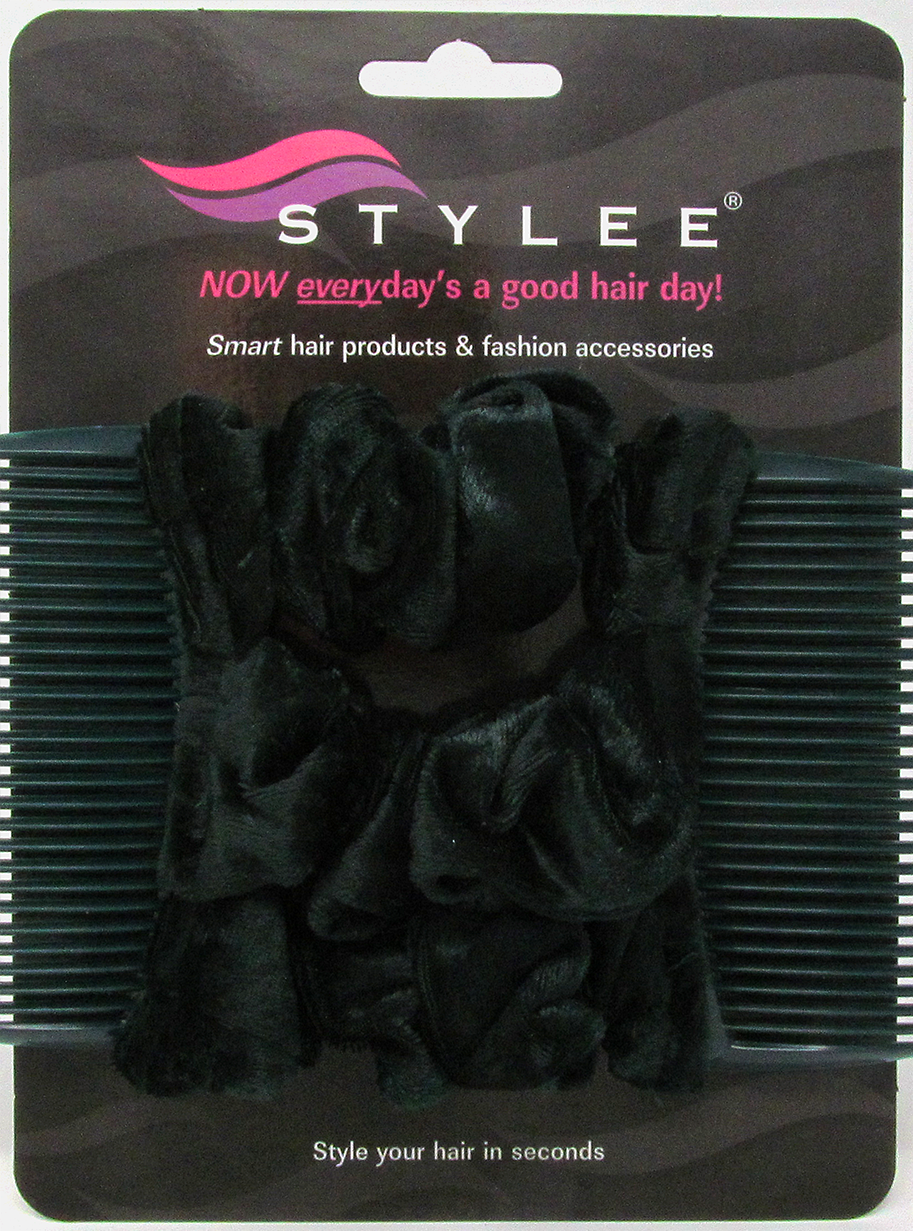 stylee hair accessories 3 bottle green velvet product code 1004 7652 | bottlegreenvelvet3s2small