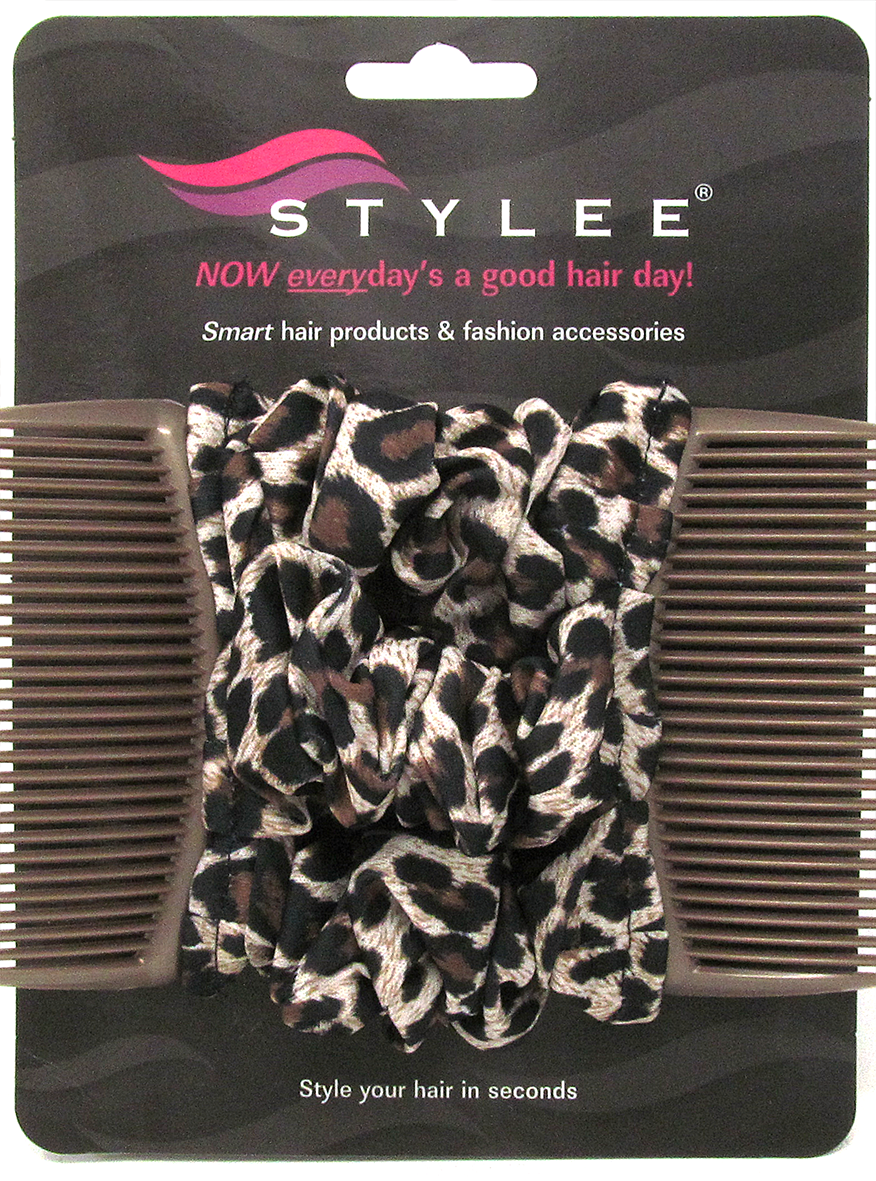 stylee hair accessories 3 brown leopard product code 1005 7652 | brownleopard3s2small