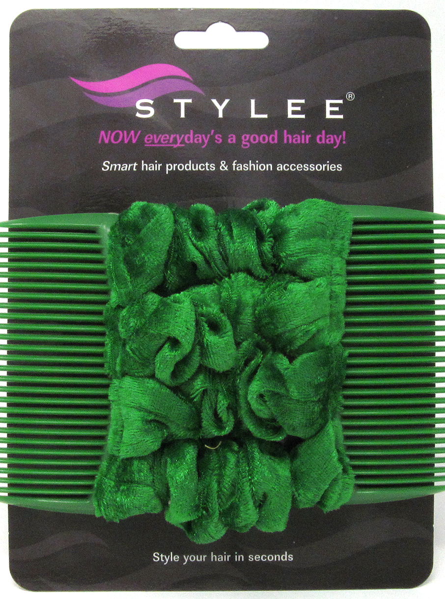 stylee hair accessories 4 emerald green velvet 7652 | emeraldgreenvelvet4s5small