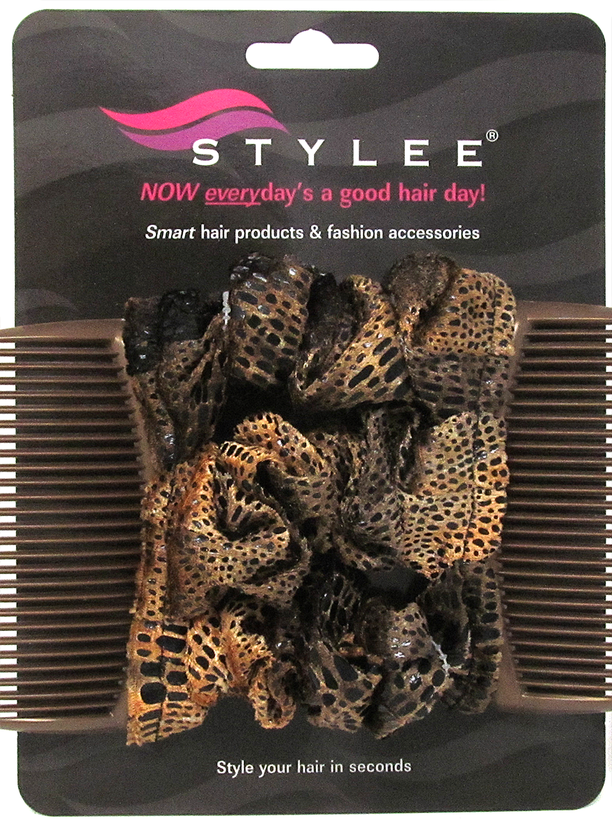 stylee hair accessories 3 gold brown snakeskin product code 1042 7652 | goldbrownsnake3s2small