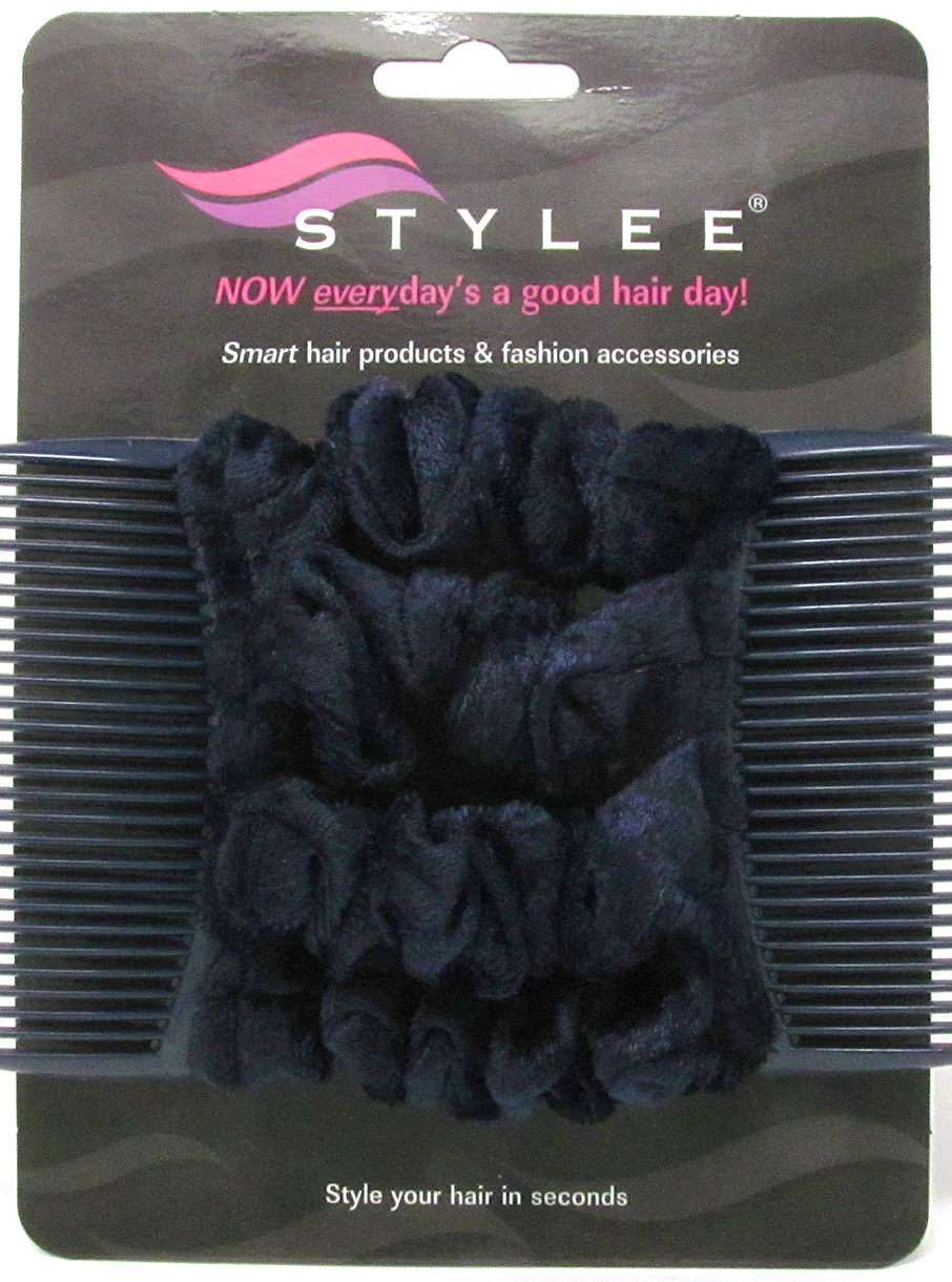 stylee hair accessories 4 navy blue velvet product code 3011 7652 | navyvelvet4s4small